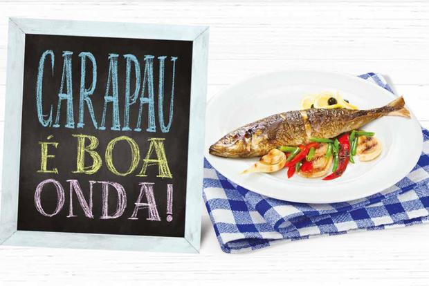 Imagem da campanha «Carapau é Boa Onda»