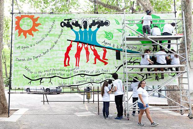 Kid's Guernica promove a paz e a educação ambiental