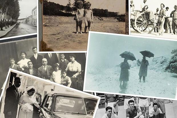 Colagem de fotografias antigas