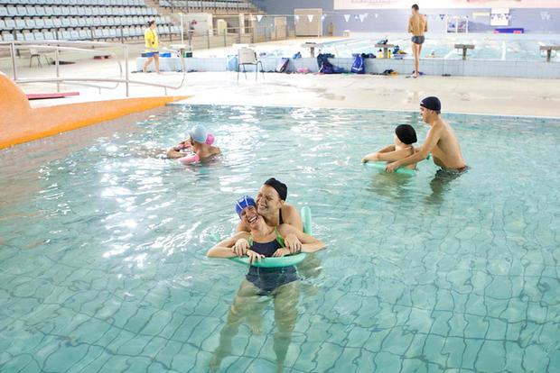 Atividade na piscina