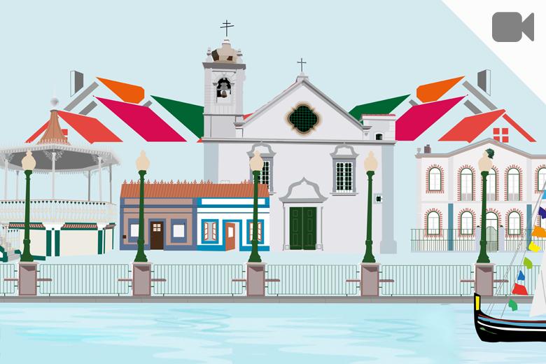Imagem gráfica da Aldeia Natal do Seixal