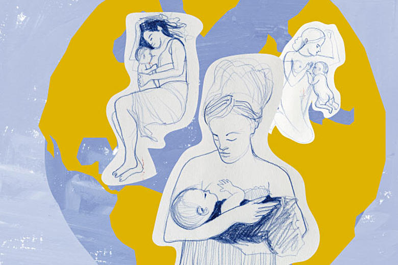 Imagem gráfica da Semana Mundial do Aleitamento Materno