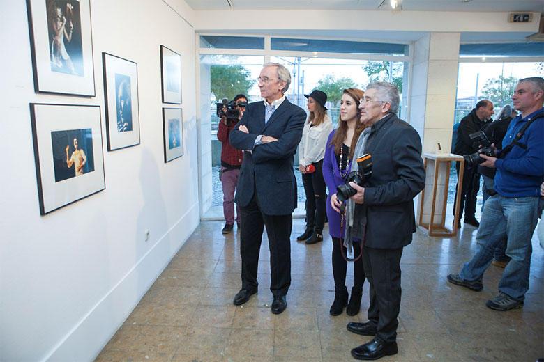 Inauguração da exposição no dia 31 de janeiro, com a presença do apresentador de televisão e rádio Júlio Isidro.