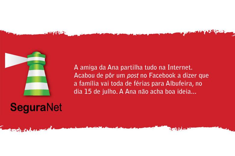 Imagem retirada de cartaz/campanha disponível em seguranet.pt
