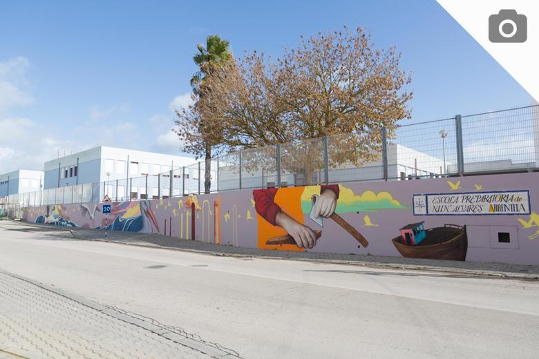 Mural na Escola Básica Nun'Álvares