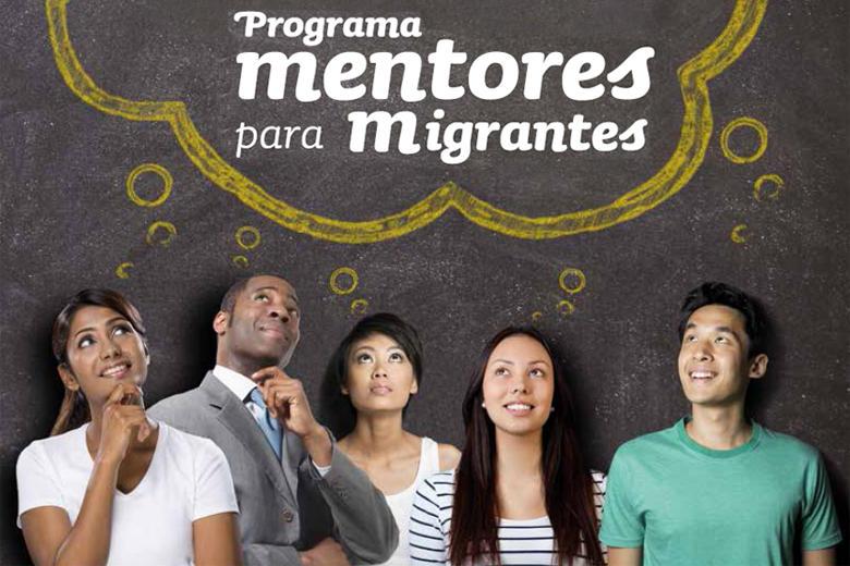 Imagem do folheto Mentores para Migrantes