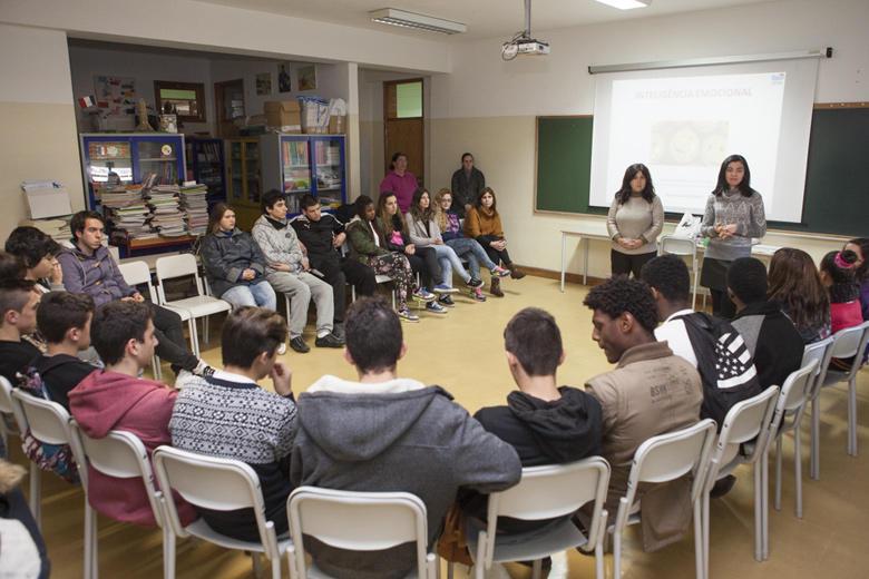Sessão em escola